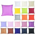 Home Decor Cotton Soft Pure Color Pillow Cover Sofa Couch Case Throw Cushion