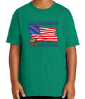 Kyпить Support Trump Immigration Policy Kid's T-shirt USA Flag Tee for Youth - 2181C на еВаy.соm