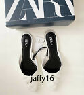 ZARA NEW WOMAN QUILTED FLAT MULES SHOES WHITE 35-42  3507/510