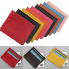 Mens Womens Leather Small ID Credit Card Wallet Holder Slim Pocket Case Bags NEW image