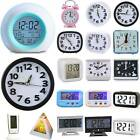 LCD Display Digital Smart Alarm Clock Battery Powered Operated Room Snooze Light