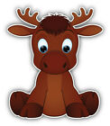 "Funny Moose Baby Car Bumper Sticker Decal ""sizes''"