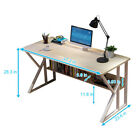 Computer Table Modern Desk Home Office Study Workstation Writing Furniture BLACK