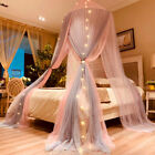 Princess Bed Canopy Romantic Round Dome Bed Curtains Mosquito Net Bedroom Decor image