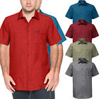Jack Wolfskin Mens El Dorado Short Sleeve Checked Button Shirt