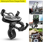 Motorcycle Bike Bicycle Holder Mount Handlebar w/USB Charger For Cell Phone GPS