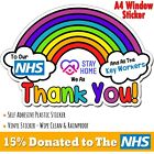 Thank You Nhs Stay Home Rainbow Window Sticker Covid Virus Shop *nhs Charity*