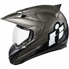 Icon Adult Black/Grey Double Stack Variant Full Face Motorcycle/Sport Helmet