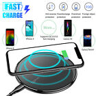 Qi Wireless Charger Fast Charging Pad Mat Station LED Dock For iPhone Samsung US