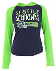 Outerstuff NFL Youth Girls Seattle Seahawks Class Long Sleeve T-Shirt Hoodie $14.95 USD on eBay