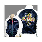 Reebok NHL Women's Florida Panthers Zip Up Satin Jacket, Navy/White $19.99 USD on eBay