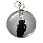 NEW Audrey Hepburn Breakfast At Tiffany's Silver Necklace Pendant DIY Jewelry