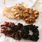 Hot Satin Silk Solid Color Hair Tie Elastic Scrunchie Ponytail Holder Hair Decor