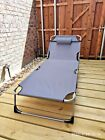 Extra Wide Portable Cot Folding Camping Bed Patio Beach Lounge + Pillow&Cushion