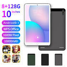 """10"""" Ultra-thin 4g 8+128g Tablet Pc Android 9.1 Wifi Dual Sim Triple Camera New"""