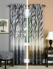 Exotic Tiger & Zebra Printed Sheer Voile Safari Window Curtains - Assorted Sizes