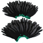 12/24 Pairs PU Nylon Shell Safety Coating Work Gloves Builders Palm Protection