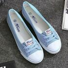 Hot Women's Ladies Canvas Shoes Pumps Slip On Summer Size Flat Lace Up Loafer U