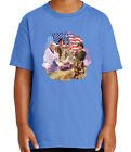 Patriotic US Army Kid's T-shirt American Military Soldiers Tee for Youth - 1603C