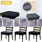 Soft Stretch Removable Easy Fit Dining Chair Seat Covers Protectors Slipcover US