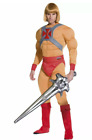 He-Man/Prince Adam Muscle Costume,Mens Adult Smiffys Fancy Dress movie 1980s