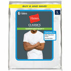 Hanes Men's Classics Comfortsoft Tagless Tees, 6-Pack <br/> Buy Direct from BOBS Stores