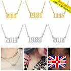 Personalized Necklace Year Number Pendant Special Birth Date Birthday Jewelry Uk