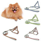 WO_ AM_ FT- Pet Dog Harness Vest Leash Nylon Traction Rope Adjustable Reflective