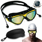 Mirror Swimming Goggles Anti Fog UV Protection Swim Glasses for Adults Ear Plug