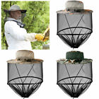 Men women Head Face Net Sun Hat Anti Mosquito Bees Bugs Insect Beekeeping Cap US