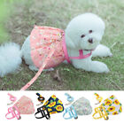 Cute Floral Small Dog Dress Pet Cat Skirt Harness&Lead Clothes Puppy Summer Vest