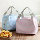 Picnic Fresh Cold Bales Lunch Bag Striped Portable Women Thermal Food Bag Hs