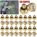 20/40pcs Misting Nozzles Cooling System Water Mister Brass Sprinkler Garden Tool