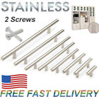 """Stainless Steel T Bar Kitchen Cabinet Door Handle Drawer Pull Knobs 2""""-16"""" US"""