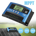 20-100A MPPT Solar Panel Regulator Charge Controller 12V/24V Auto Focus Tracking