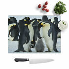 Emperor Penguins Glass Chopping Cutting Board Kitchen Surface Protector
