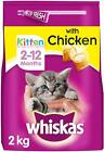 Whiskas Junior Dry Cat Food for Kittens and Young Cats 2-12 Months with Chicken