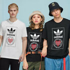 GENUINE UNISEX ADIDAS ORIGINALS VALENTINE'S DAY HEART TREFOIL SPORTY TEE T-SHIRT