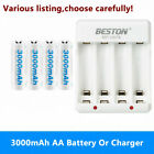 AA Rechargeable Batteries 3000mAh Or 4-Bay AA AAA Charger for RC Toys Camera