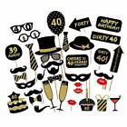 16/18/21st/30/40/50/60th 30PCS Birthday Party Photo Booth Props On Stick Selfie