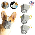 3X Pet Dog Mouth Anti Fog Smog Pollution Breathable Muzzle Face Cover Tools New