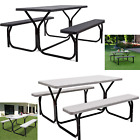 "Picnic Table Bench Set Garden Party Outdoor Weather-resistant 54"" X 59"" X 28.5"""