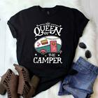 Queen of the Camper Shirt Camping Shirt Camping Gift Hiking Funny Cool T-Shirt