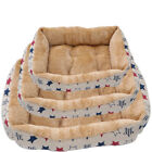 Star Deluxe Soft Washable Dog Pet Warm Basket Bed Cushion with Fleece Lining SML