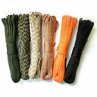 Sirius Survival 100ft Paracord Rope, 350lb 4mm 7 Strand Core - 5 Colors