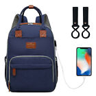Внешний вид - USB Mummy Diaper Bag Baby Backpack Diaper Bag Backpack Stroller Multifunction