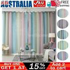 Star Blockout Curtains Thermal 2 Layer Blackout Curtains Fabric Eyelet Bedroom