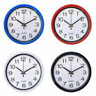 8 Inch Round Wall Clock, Silent Non Ticking,Quartz Battery Operate,Multicolor