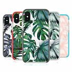 NATURE MAGICK PALM LEAVES ON MARBLE RED SHOCKPROOF BUMPER CASE FOR iPHONE PHONES