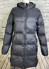 Eddie Bauer Luna Peak Down Parka Womens Hooded Coat 550 Fill Black M L XXL